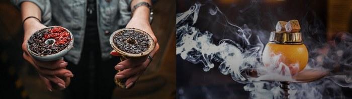 чаша для кальяна забитая табаком
