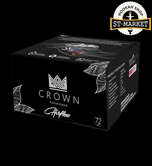 Кокосовый уголь для кальяна Crown Air flow, 1кг
